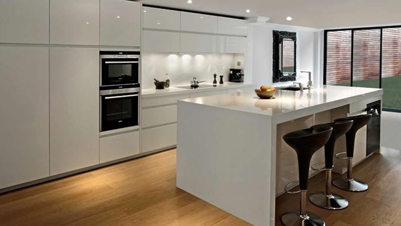 White Kitchen No Handles high gloss kitchen doors no handles | training4green