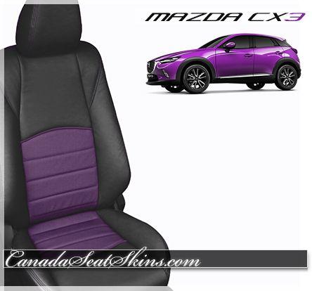 all new mazda cx3 black and purple leather interior customize