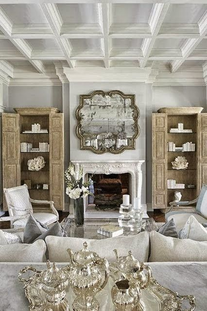 A Rustic Lodge Style Living Room Makeover: Gorgeous Rustic French Country Chic