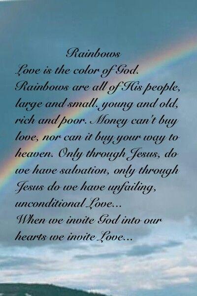 Rainbows And God S Promise Rainbow Quote Sabbath Quotes Gods Promises