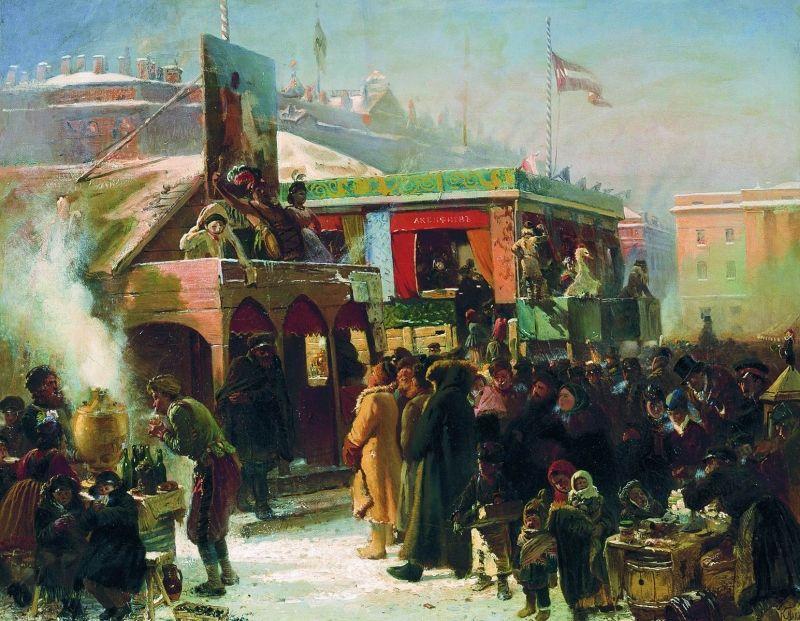 Festivities in St. Petersburg Painting Konstantin