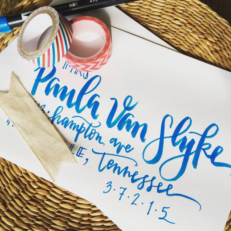 Envelope Addressing - Bold Brush Lettering [Wedding Invitations ...