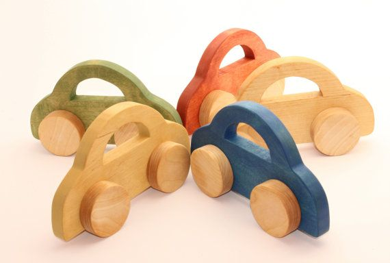 Wooden Toy Car 8 2 X 4 9 In Large