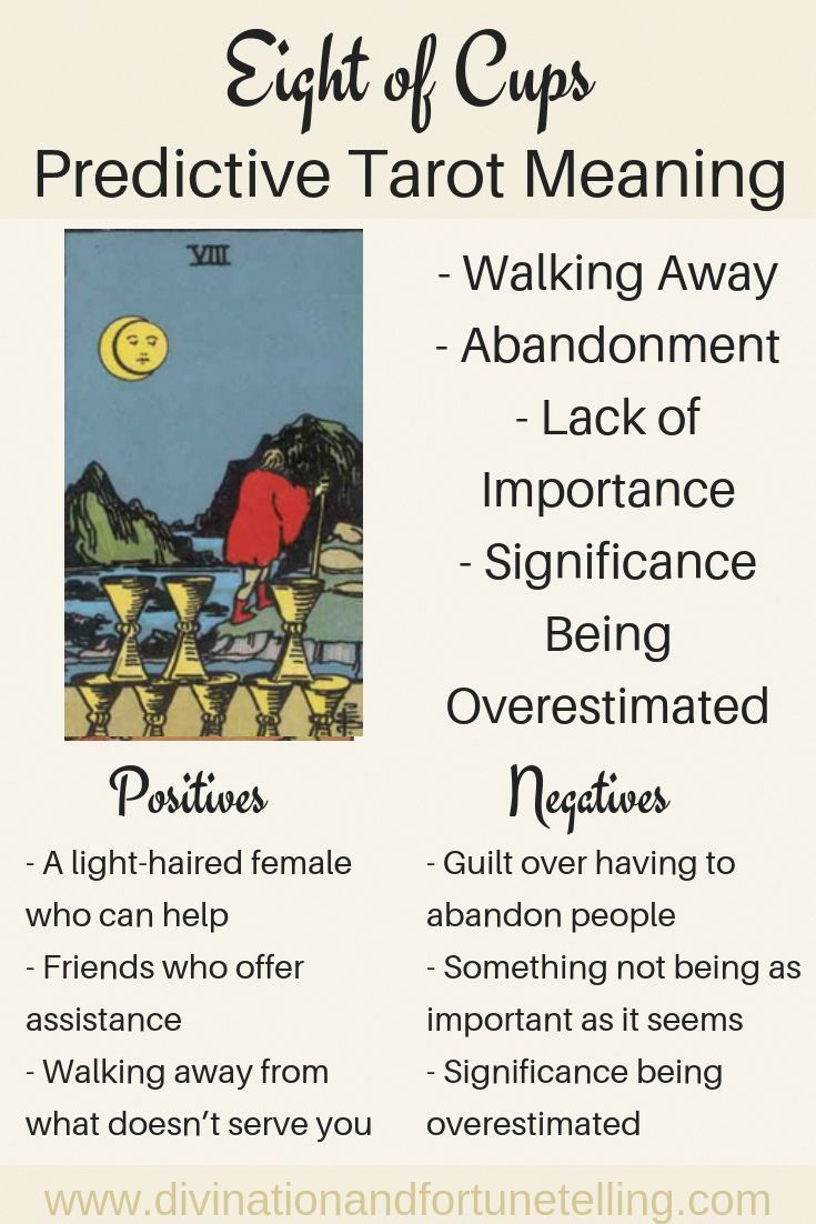 Future tarot meanings eight of cups with images tarot