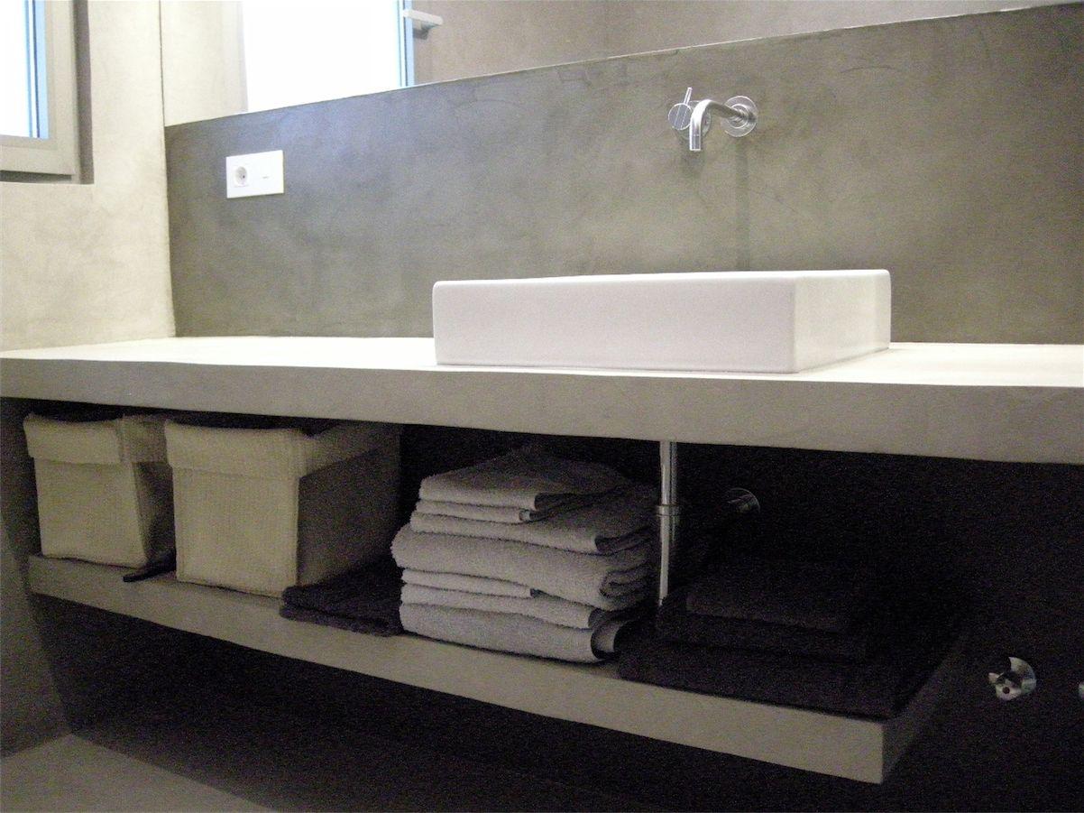 Encimera de cementopulido realcem toilets cemento for Cera de hormigon para azulejos de bano