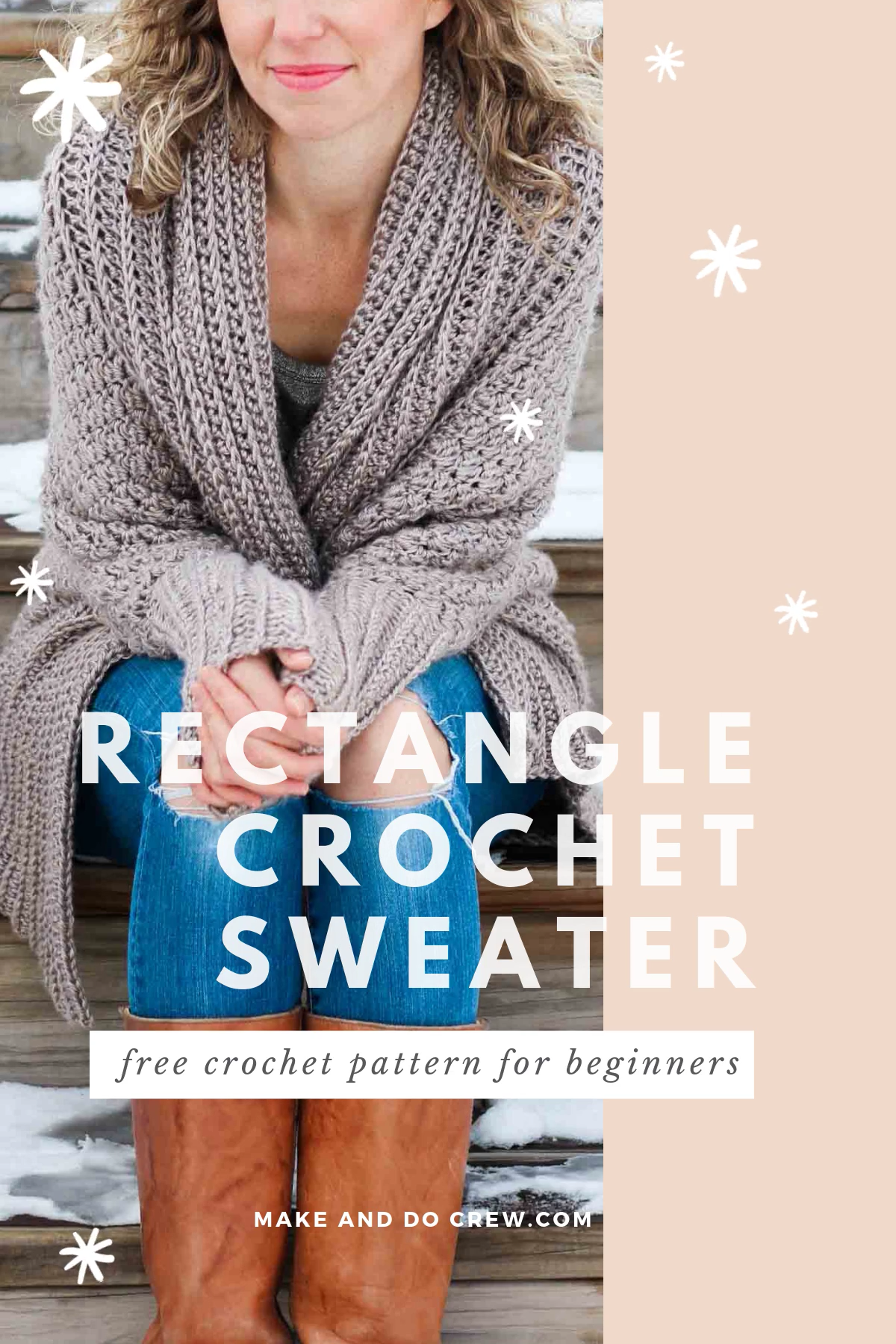 Photo of Free Crochet Sweater Pattern – Easy Cardigan Made From a Rectangle