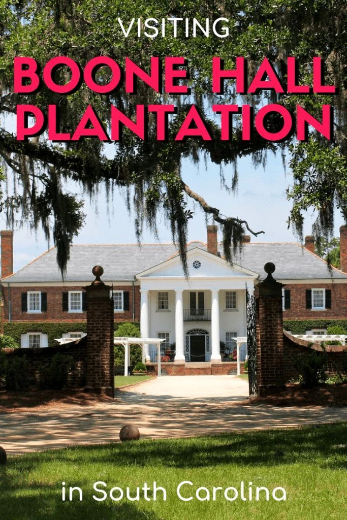 Plantation Tour Visiting Boone Hall Plantation in South