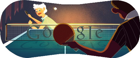 Table Tennis Google doodles, Table tennis, Doodles