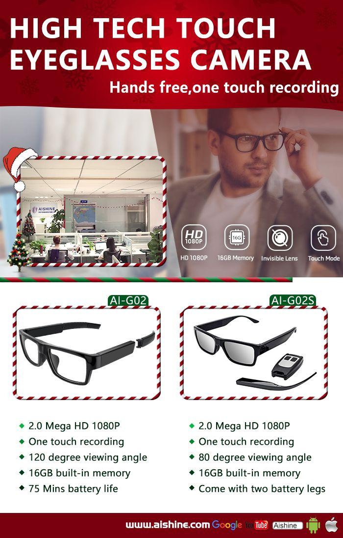 High Tech Touch Eyeglasses Camera Eyeglass camera, Dvr