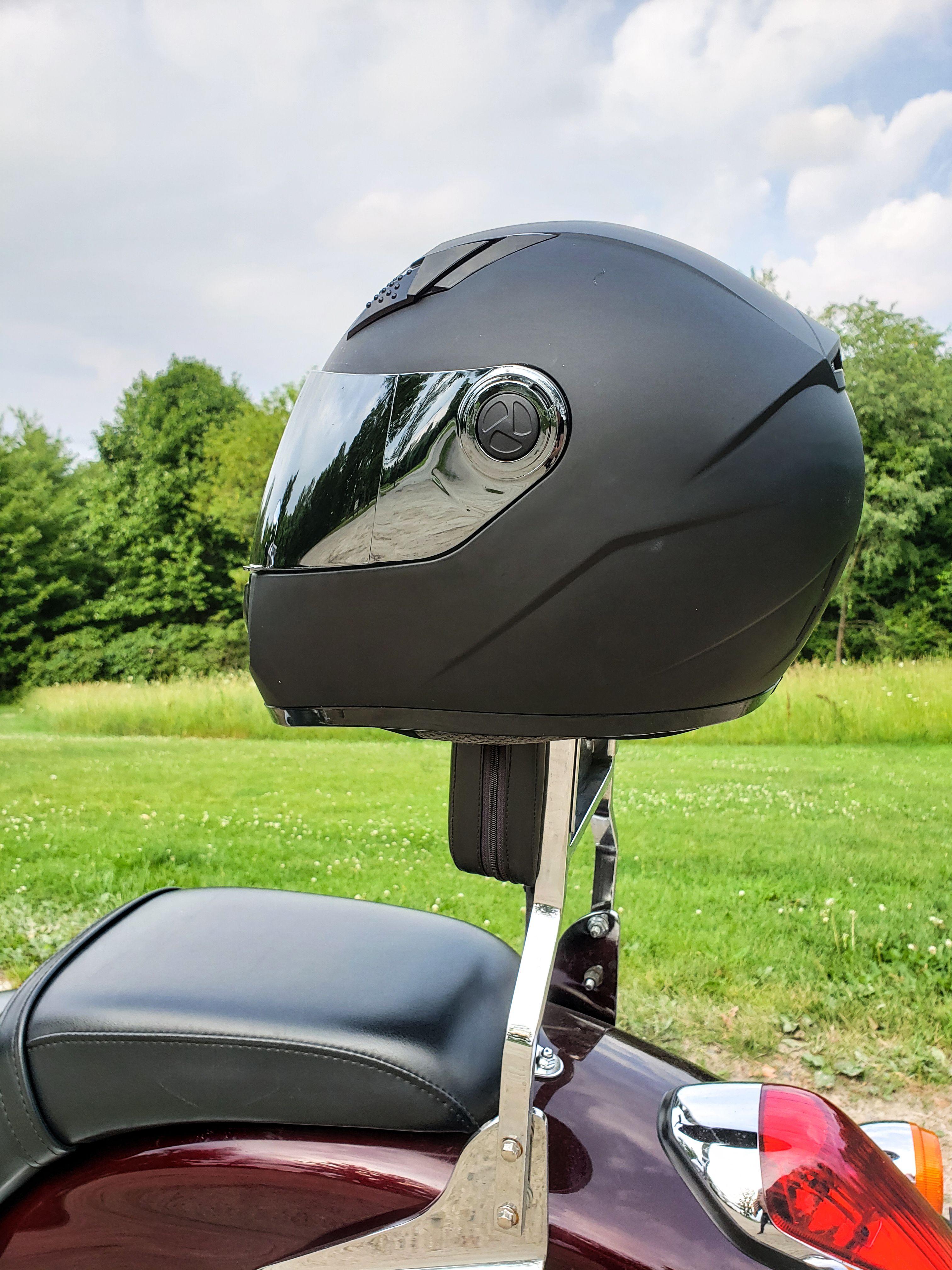 Matte black full face motorcycle helmets Full face