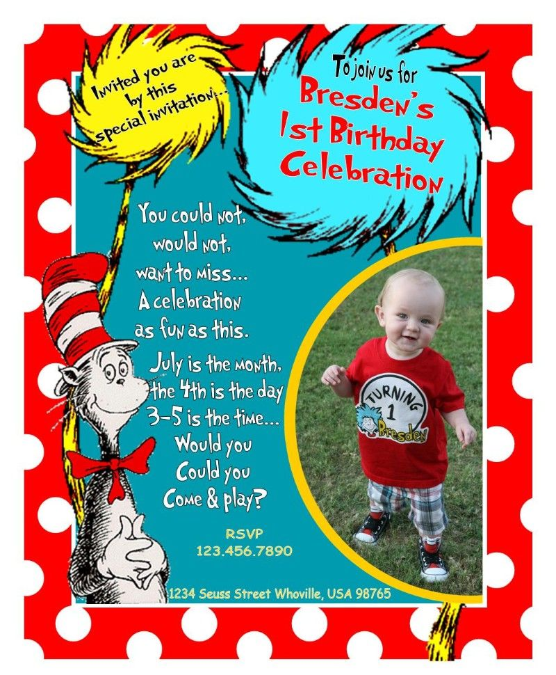 Dr. Seuss birthday party ideas are rather unique and it can create a ...