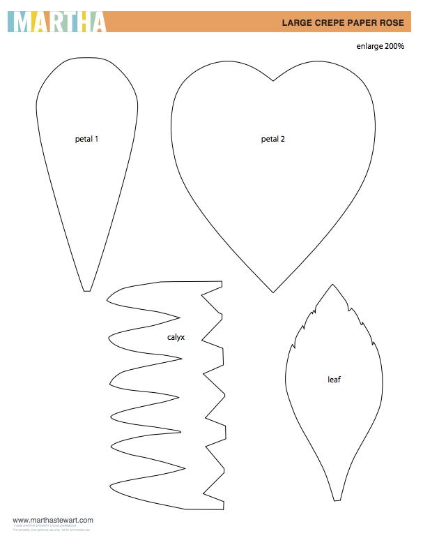 Diy crepe paper flower tutorial paper flower tutorial crepe paper and flower tutorial for Diy paper flower template