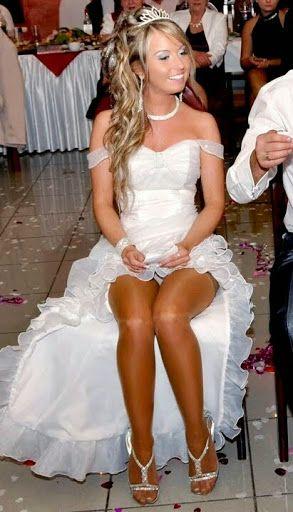 Bride in pantyhose pics