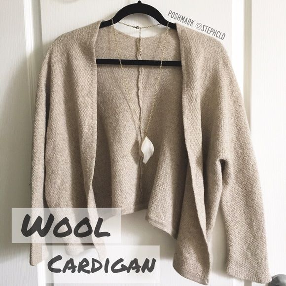 ✨ Cute Wool Cardigan Don't remember what brand or where I bought this from, there's no tag other than the one pictured above! Super cute addition to any outfit :) Just put on some jeans and a cute top and you're all set! Sweaters Cardigans