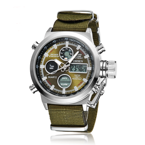 b94bd21a3 GLADIATOR ASSASSIN Dual Display Sports Men's Watch with Alarm, Stop Watch  and Auto Date