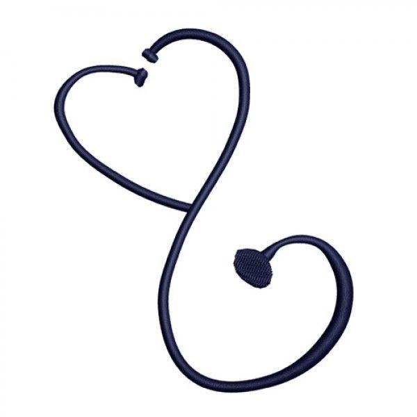 Doctor Nurse Medical Stethoscope Symbol Embroidery Design Nursing