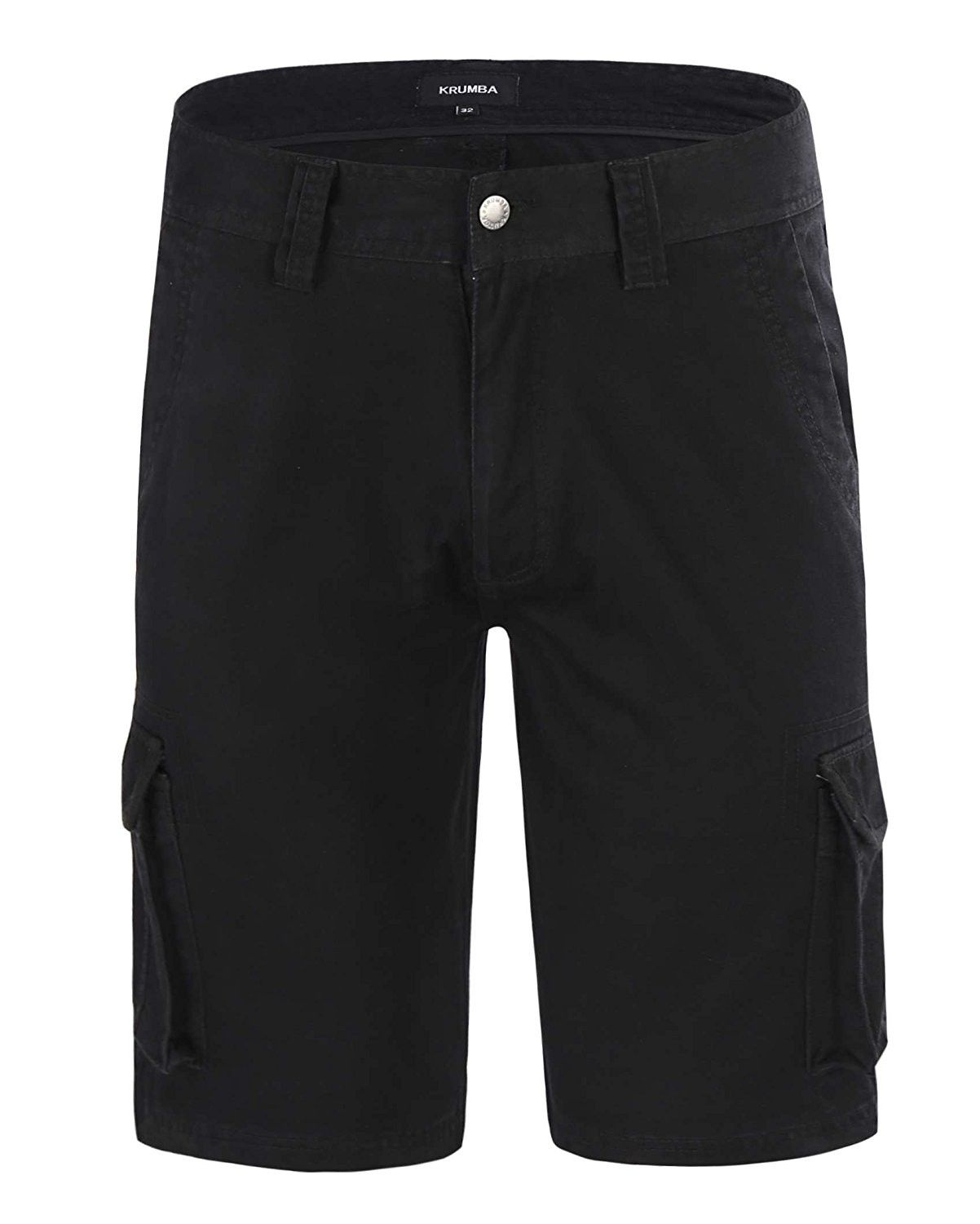 Krumba Mens Cotton Pigment Dyeing Outdoor Casual Cargo Shorts
