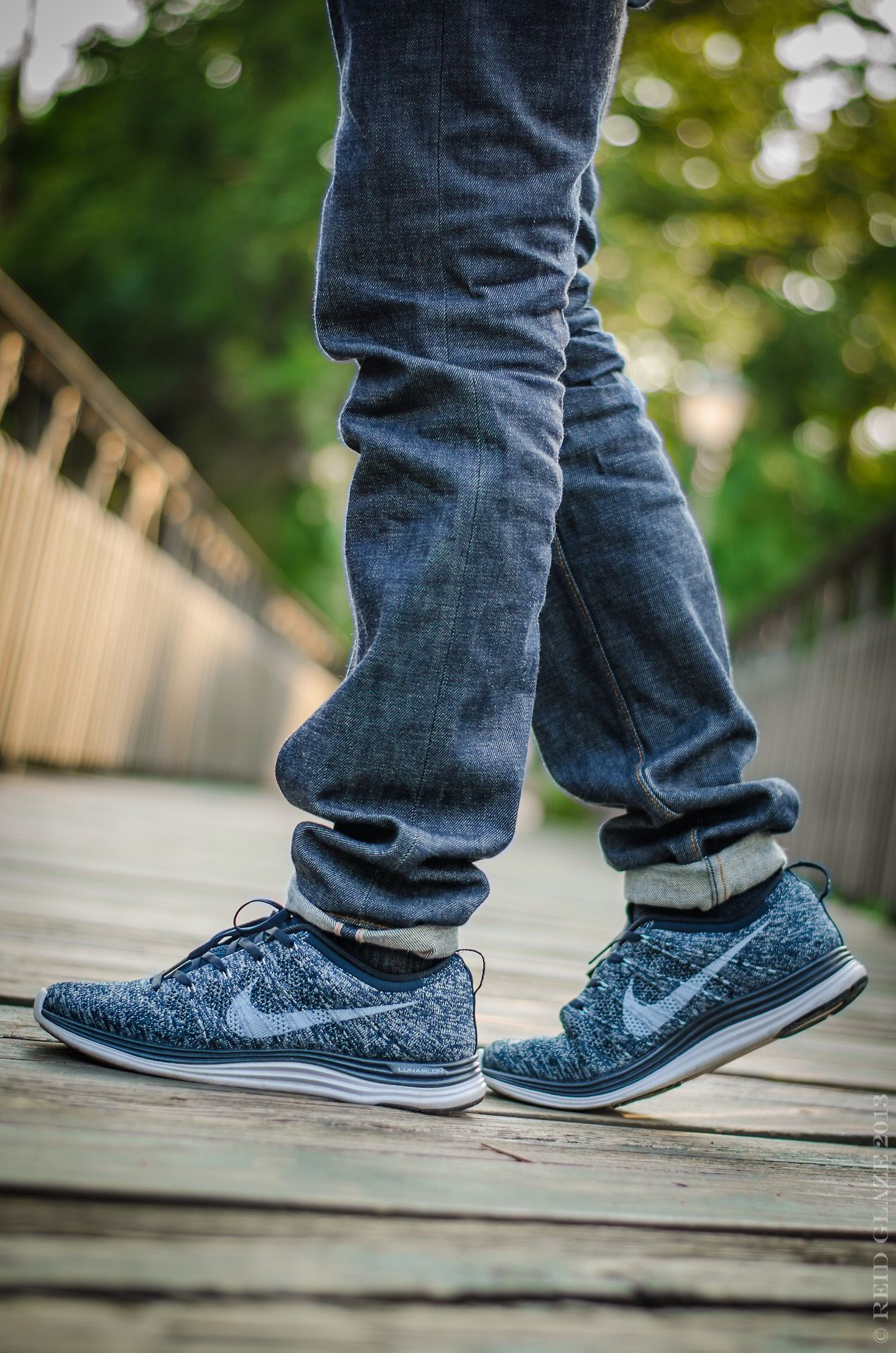 nike flyknit lunar 1 men blue