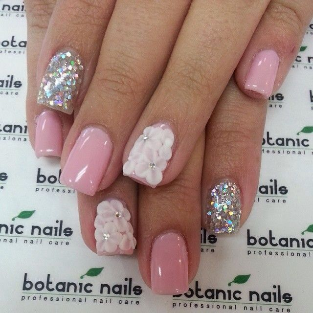 Great For Summer Or Spring Flower Nails Birthday Nails Nail Designs