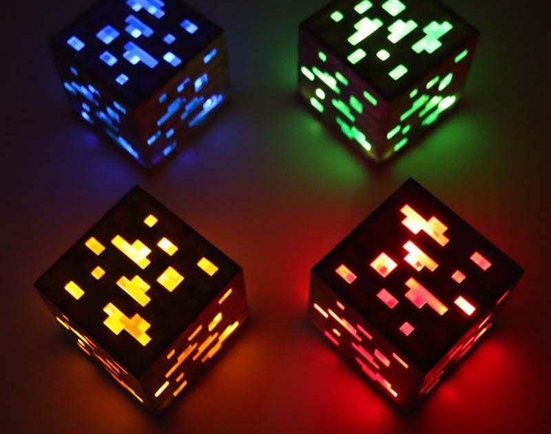 Cheap Price Minecraft Light Up Redstone Ore Square Toys Minecraft