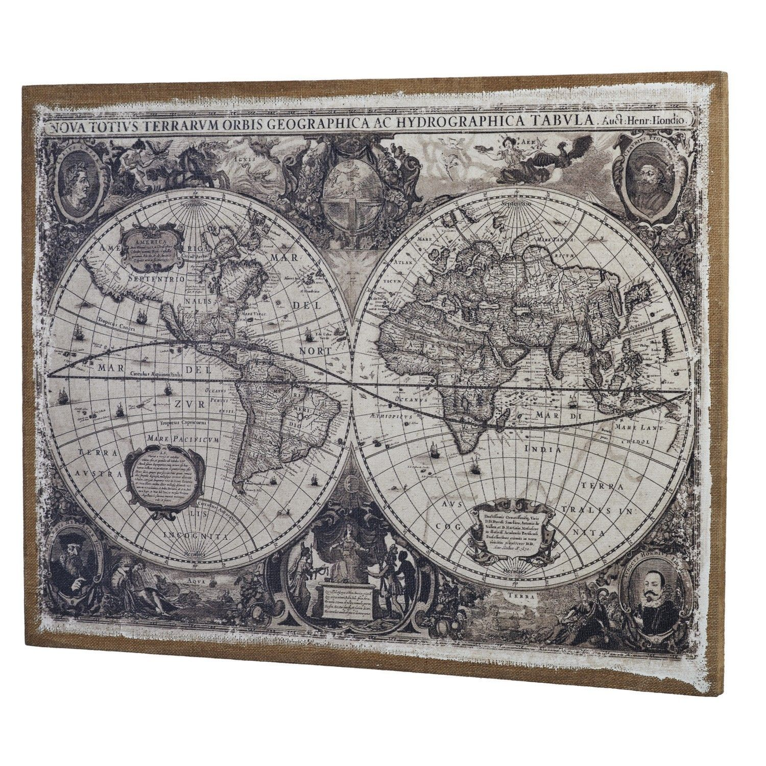 Linen world map wall art home living room pinterest linens linen world map wall art gumiabroncs Choice Image