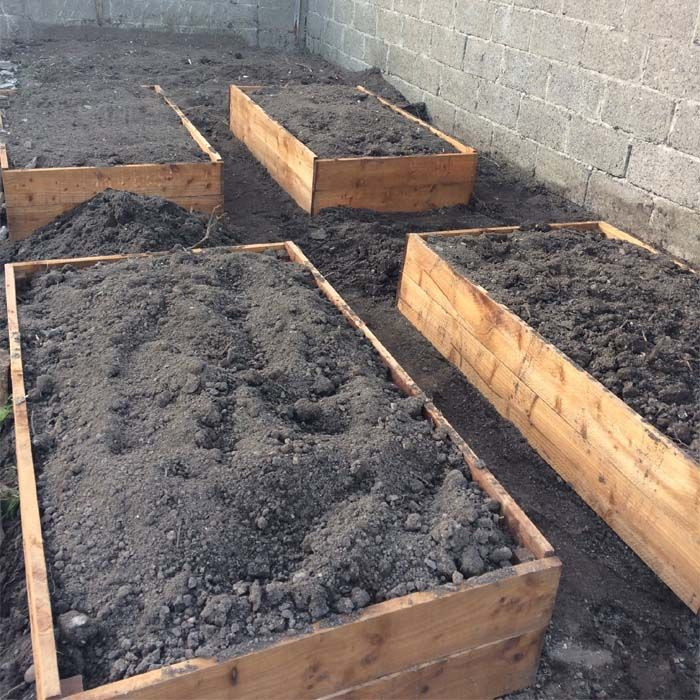 Timber Raised Bed (High) Vegetable planters, Raised beds