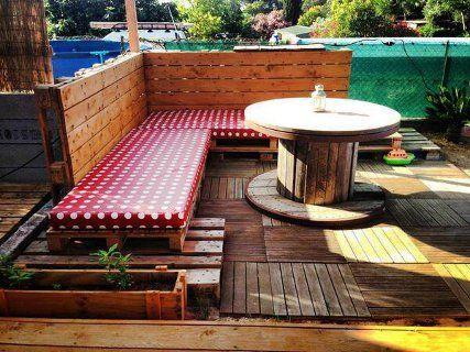 Fotos palets de madera para hacer muebles reciclados para for Muebles terraza palets madera