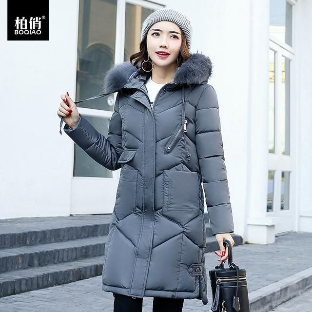4dc145d75 Thick 2017 Winter Jacket Coat Women Fur Collar Down Parka Plus Size ...