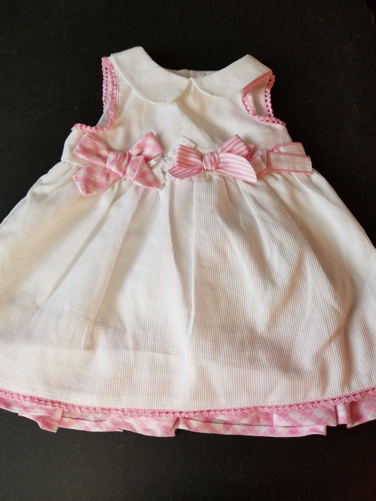 66bd199713255 NWT White and Pink Sleeveless Children's Place Dress & Diaper Cover 3-6mos  #fashion #clothing #shoes #accessories #babytoddlerclothing ...