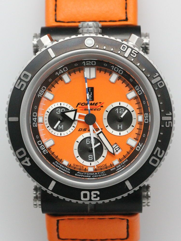 68a3802976b Formex DS-2000 Automatic Diver Chronograph. I like the color and the  bullhead configuration
