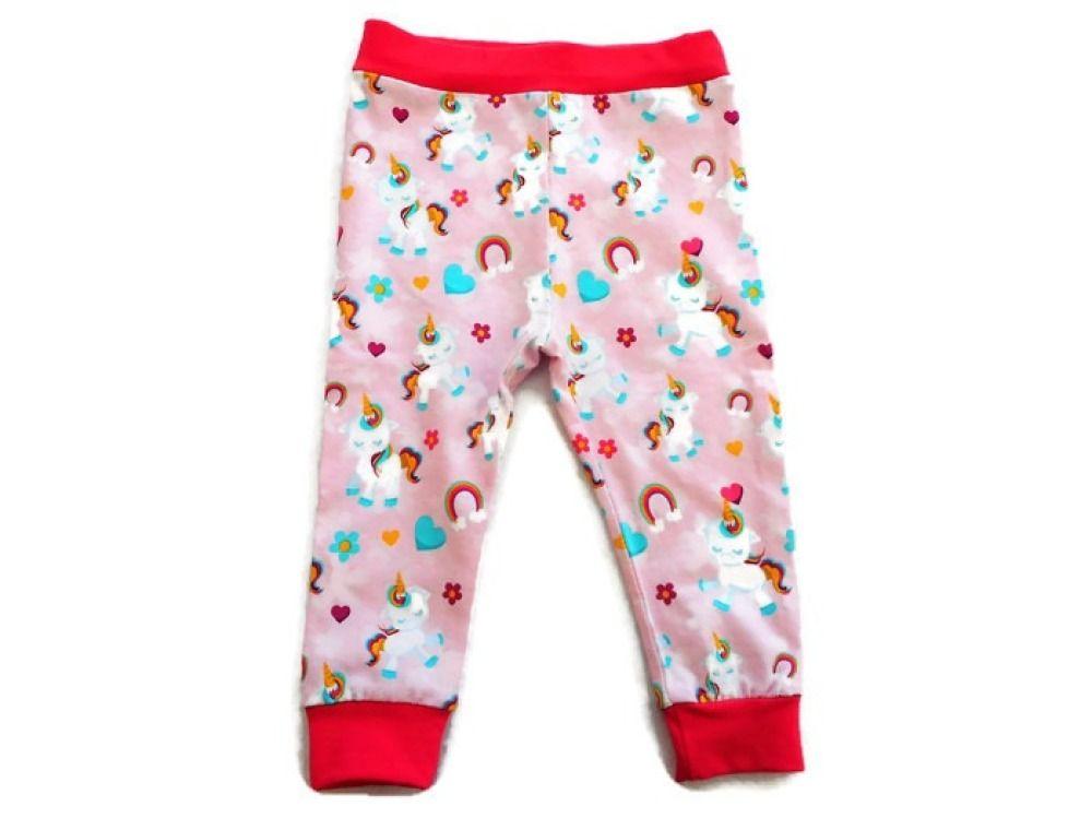 6daea33556d36 Leggings Licornes Arcs-en-Ciel Rose Leggings Bébé Fille 18 mois Leggings  Jersey Coton