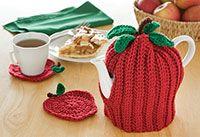 Apple tea cosy and coasters