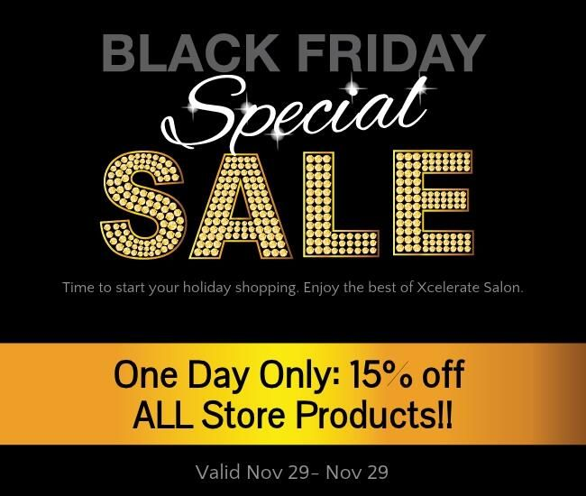 Black Friday Sale Today Only 15 Off Everything In Our Store Including Hair Skin And Makeup Black Friday Hair Salon Promotions Spa Specials