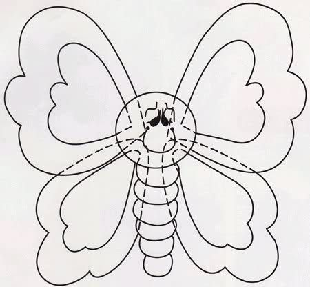 Moldes para hacer mariposas de goma eva - Imagui   Fofuchas ...