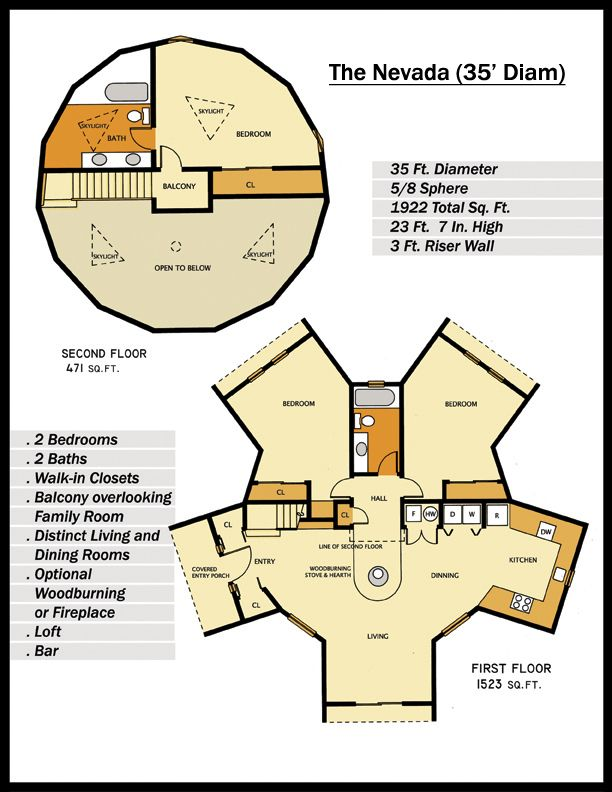 Floor plan for the nevada geodesic home 58 sphere 1933 sq ft is floor plan for the nevada geodesic home 58 sphere 1933 sq ft is about the right size for our needs ccuart