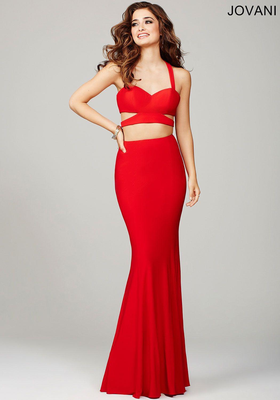A long red dress purple
