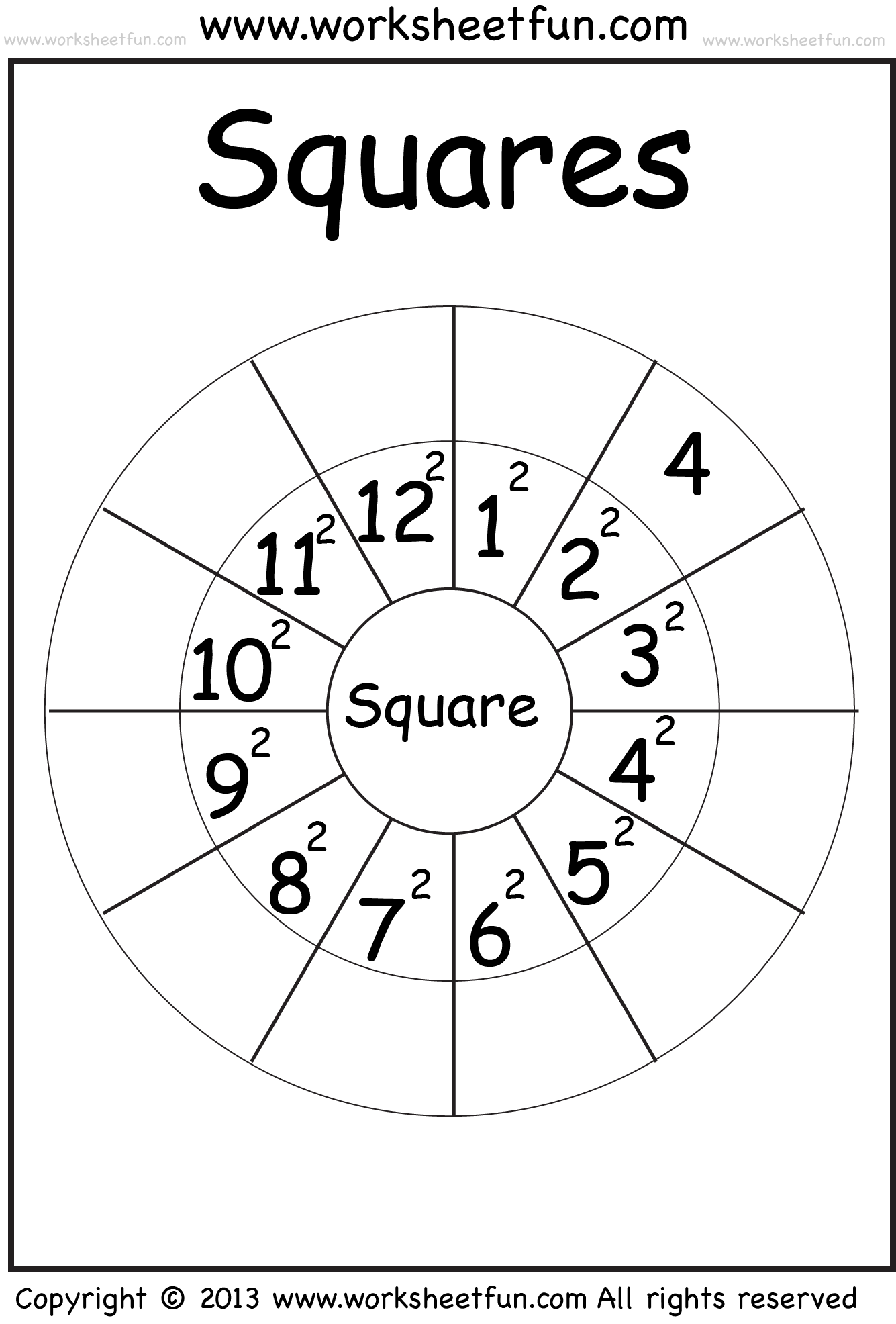 Worksheets Perfect Square Worksheets perfect squares classical conversations pinterest math squares