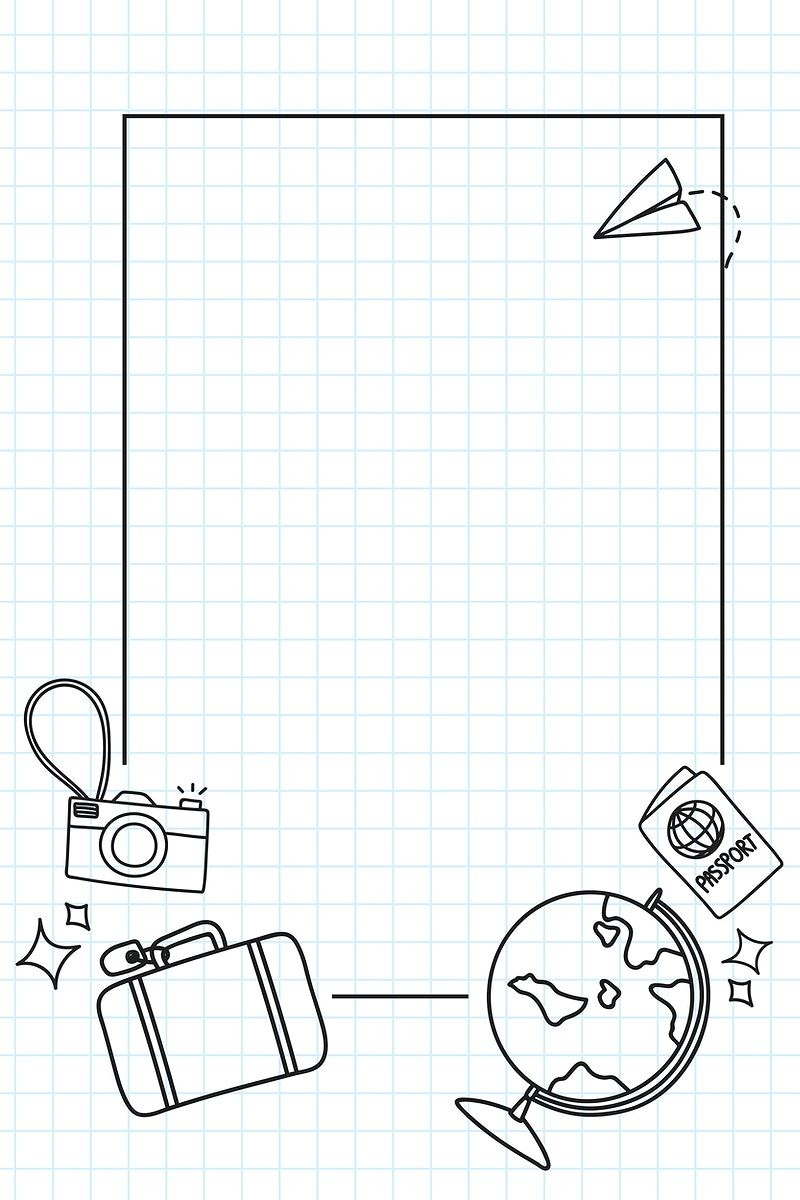 Download premium vector of Hand drawn travel element