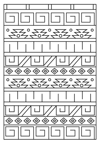 Inca Pattern Coloring Page Vbs Diseno Precolombino Dibujos