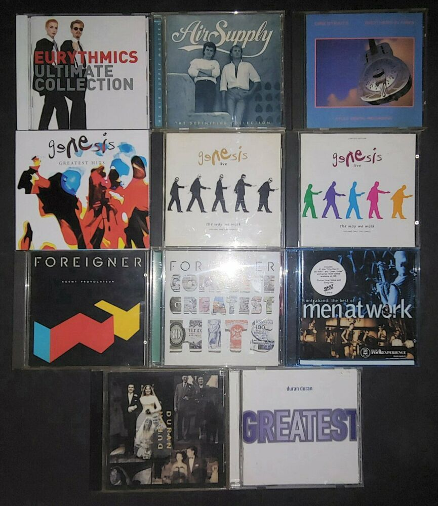 Air Supply Dire Straits Duran Duran Eurythmics Foreigner Genesis