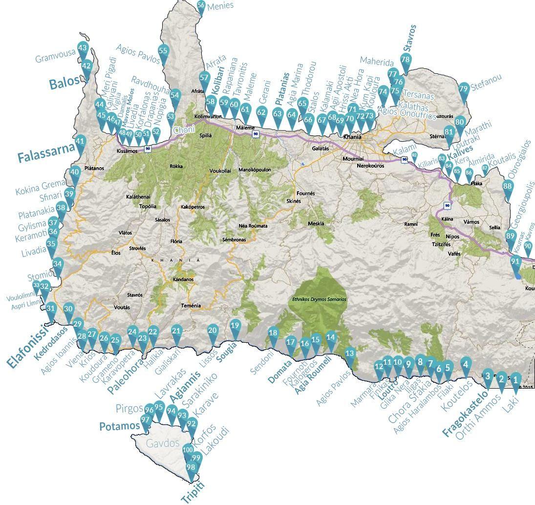 Chania Map Grecia creta Pinterest Crete Crete greece and