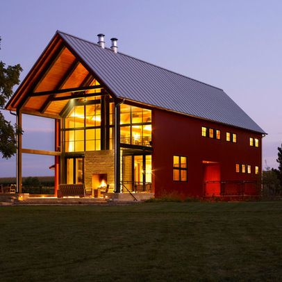 Steel frame house design ideas pictures remodel and for American barn style kit homes