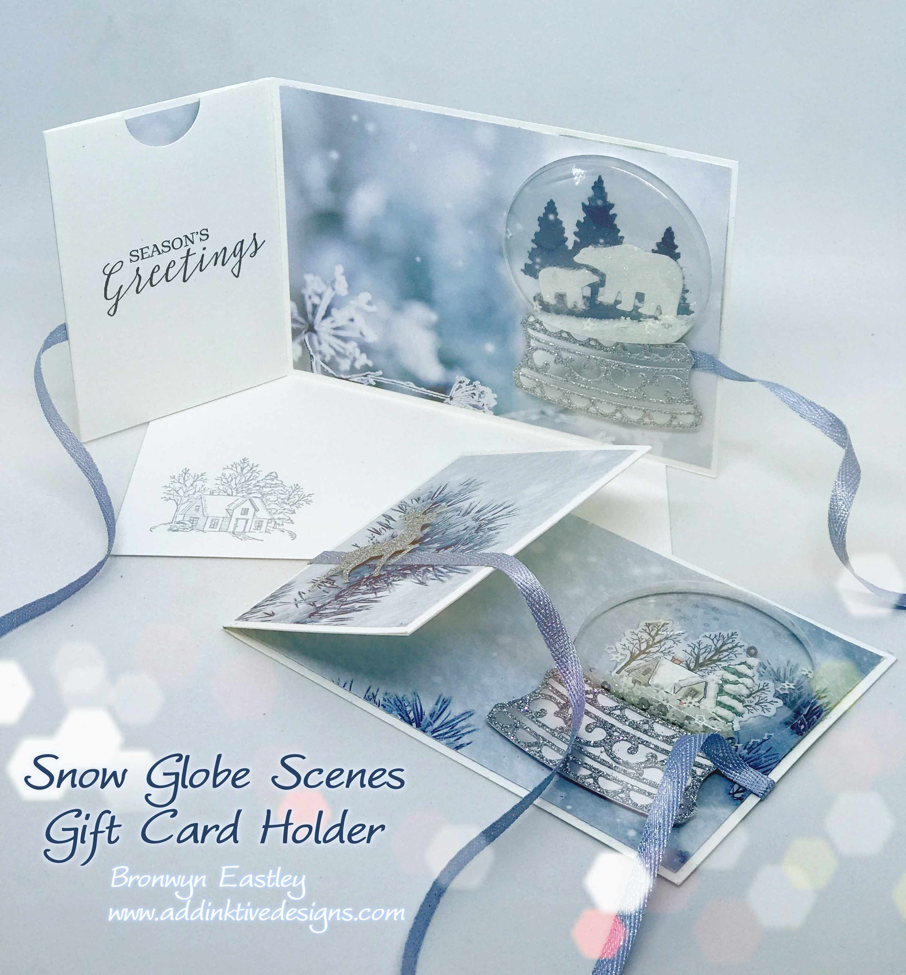 Snow Globe Scenes Gift Card Holder Tutorial Cards, Snow