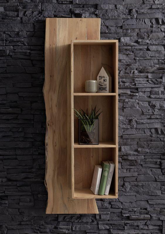 Baumkantenmobel Live Edge Versandfrei I Massivmoebel24 Wohnzimmermobel Holz Holz Wohnzimmer Wandregal Holz