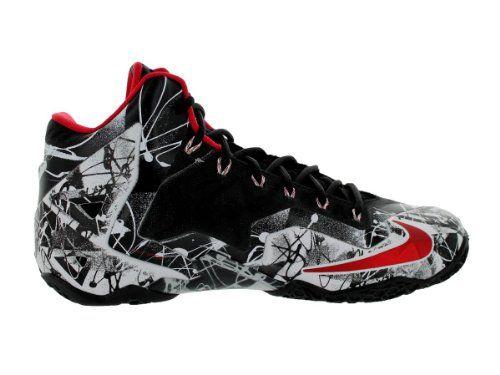 8ff55273591cf Amazon.com: Nike Lebron XI Men Sneakers White/Black/University Red ...