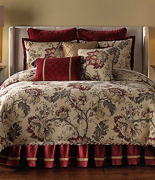 Veratex Belle Fleur Floral Scroll Jacquard Velvet Comforter Set Bed Linens Luxury Velvet Comforter Comforter Sets