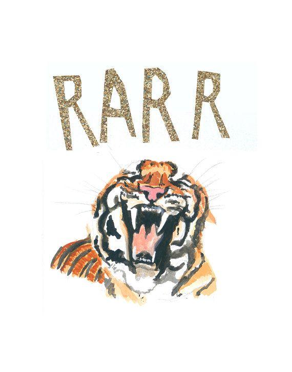 Roaring Tiger Art Print