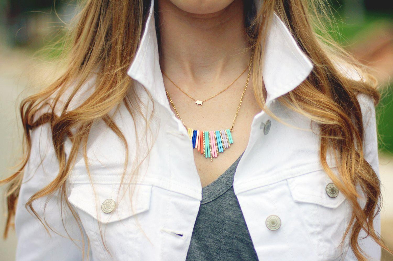 rainbow scales necklace