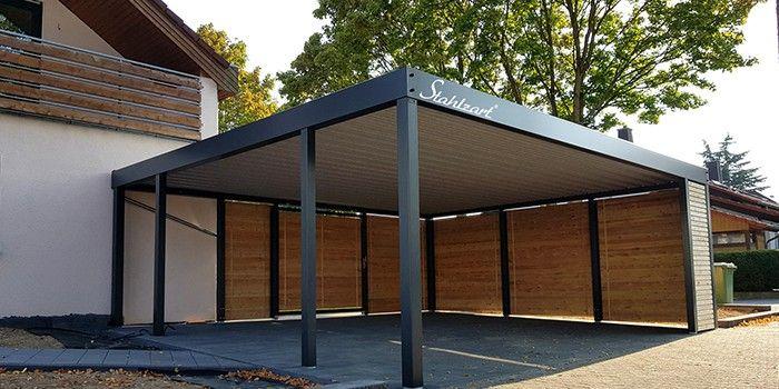Doppelcarport Metall Holz Stahl Abstellraum Haus Anbau Stahlzart Carport Metall Carport Stahl Doppelcarport