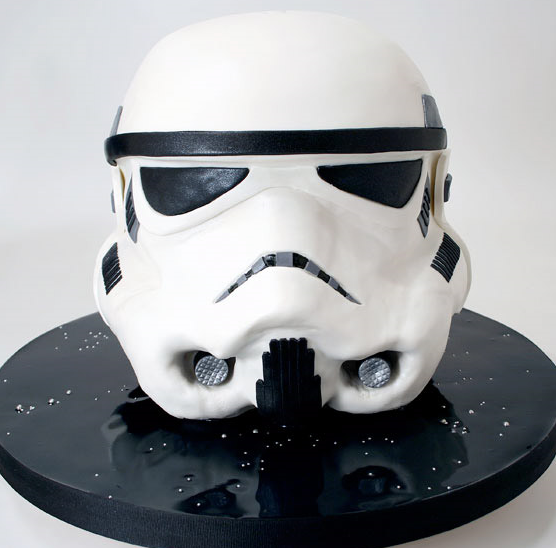 Charm City Cakes Sculpted Star Wars Storm Trooper Helmet